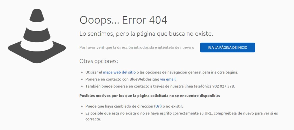 Página personalizada de error 404