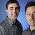 Fundadores de Google. Larry Page y Sergey Brin.