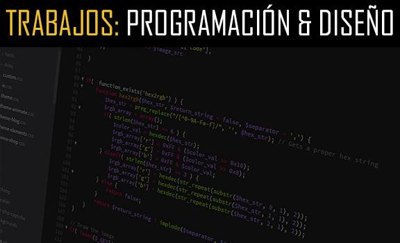 Trabajos de mantenimiento web: Programacion y diseño.