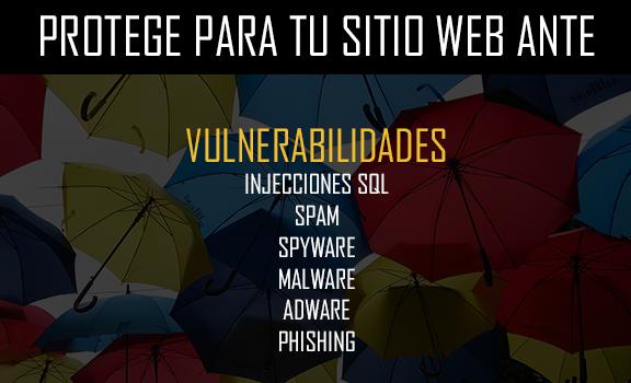 Protección ante vulnerabilidades web.