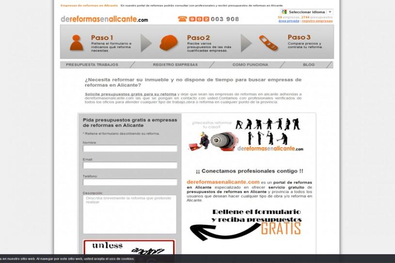 Trabajo realizado a portal de reformas en Alicante.