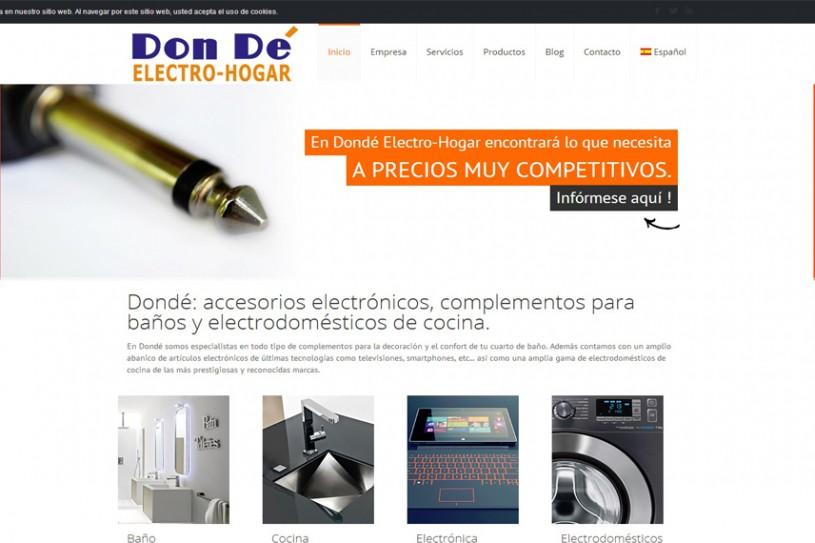 Trabajo realizado para Dondé Electro-hogar.