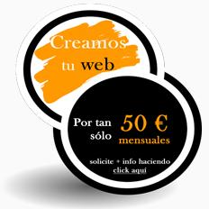 Promoción páginas web baratas.
