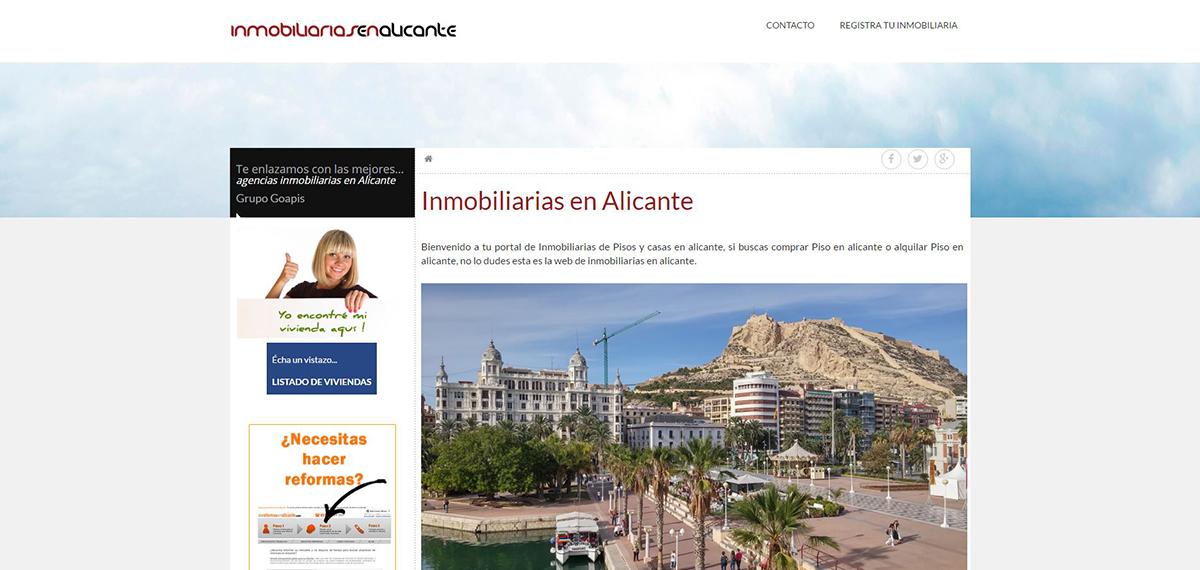Portal Inmobiliarias en Alicante