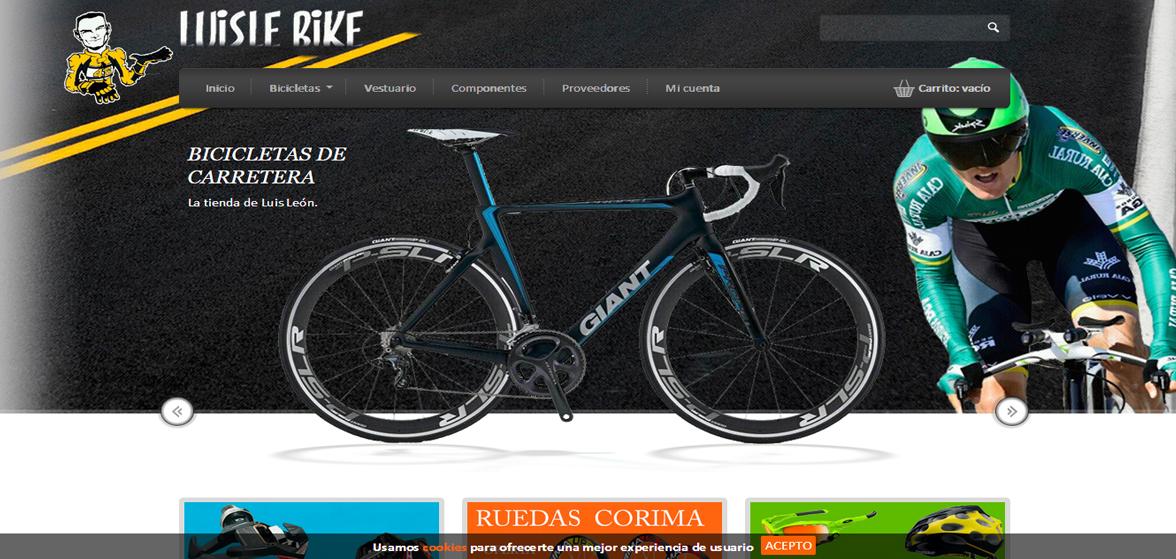 Creación de tienda online para Luislebike