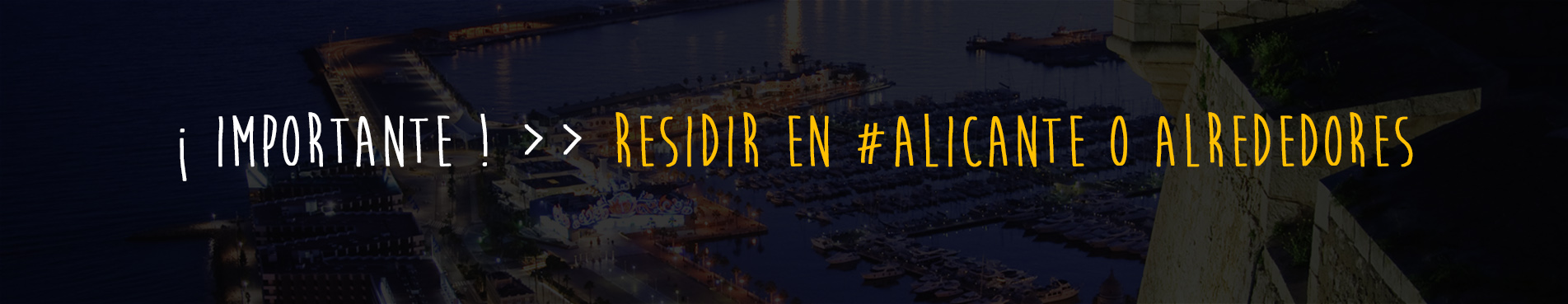 Trabajo programación Alicante: Residencia candidatos.