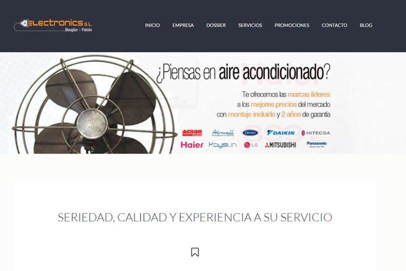 Trabajo realizado para la empresa Electronics s.l. de Alicante