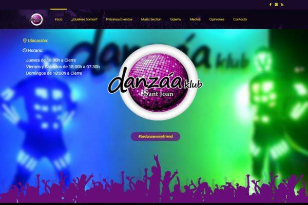 Trabajo realizado para la Discoteca de San Juan de Alicante Danzáa Klub.