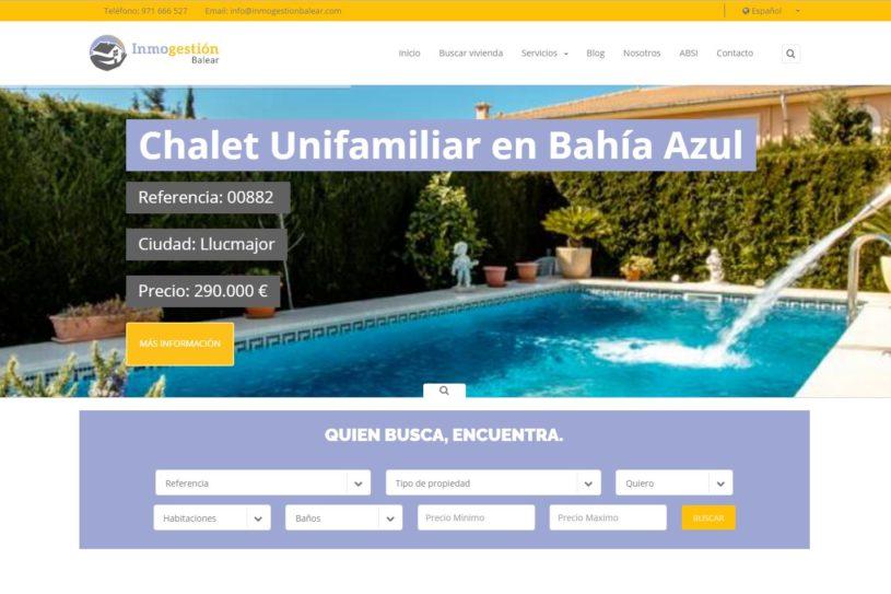 Trabajo realizado para agencia inmobiliaria Inmogestión Balear.