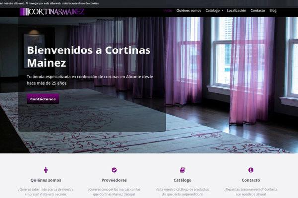 Trabajo realizado para tienda de cortinas Mainez de Alicante.