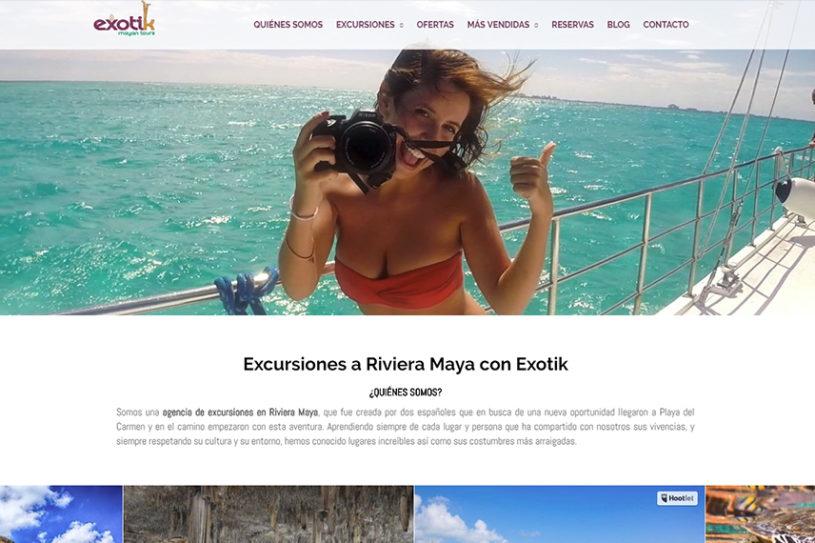 Trabajo realizado para la agencia de viajes a la Riviera Maya Exotic Mayan Tours