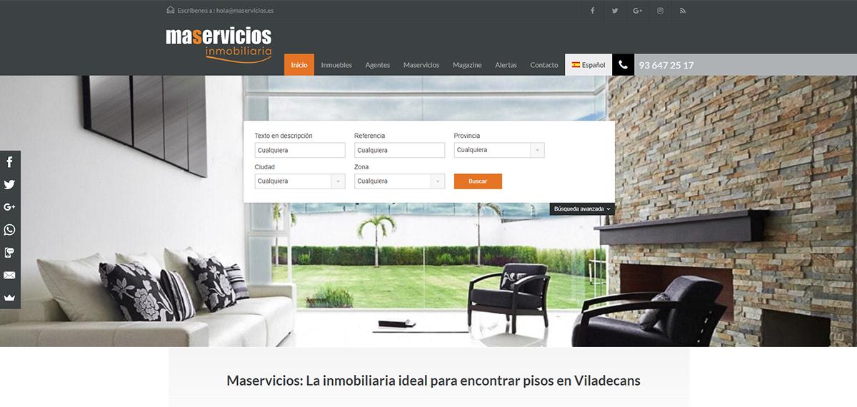 Trabajo realizado para la agencia inmobiliaria Maservicios.